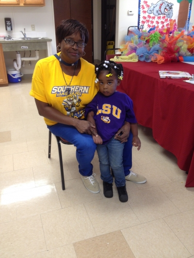 Picture are Ms. Beulah Epps and Aubree Morrison